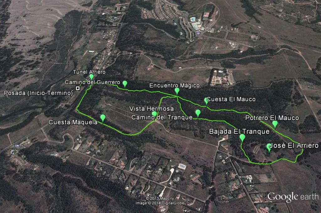 Mapa Cabalgata